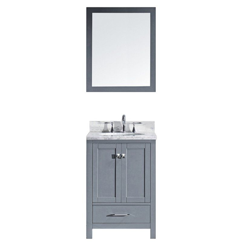 Serigne 25 Single Bathroom Vanity Set With Mirror Marble Vanity