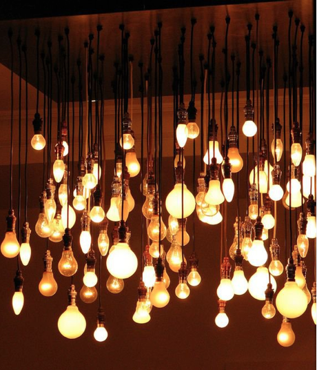 Exposed Bulbs In Bulk I Like The Industrial Feel Eclectic