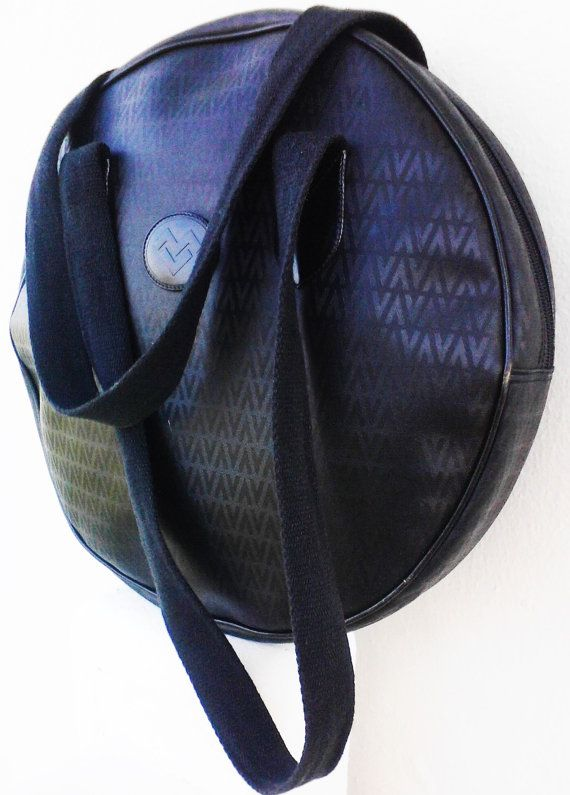 Mario Valentino Large Black Handbag by loveusati on Etsy, $68.99