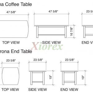 Coffee Table Sizes Standard Size