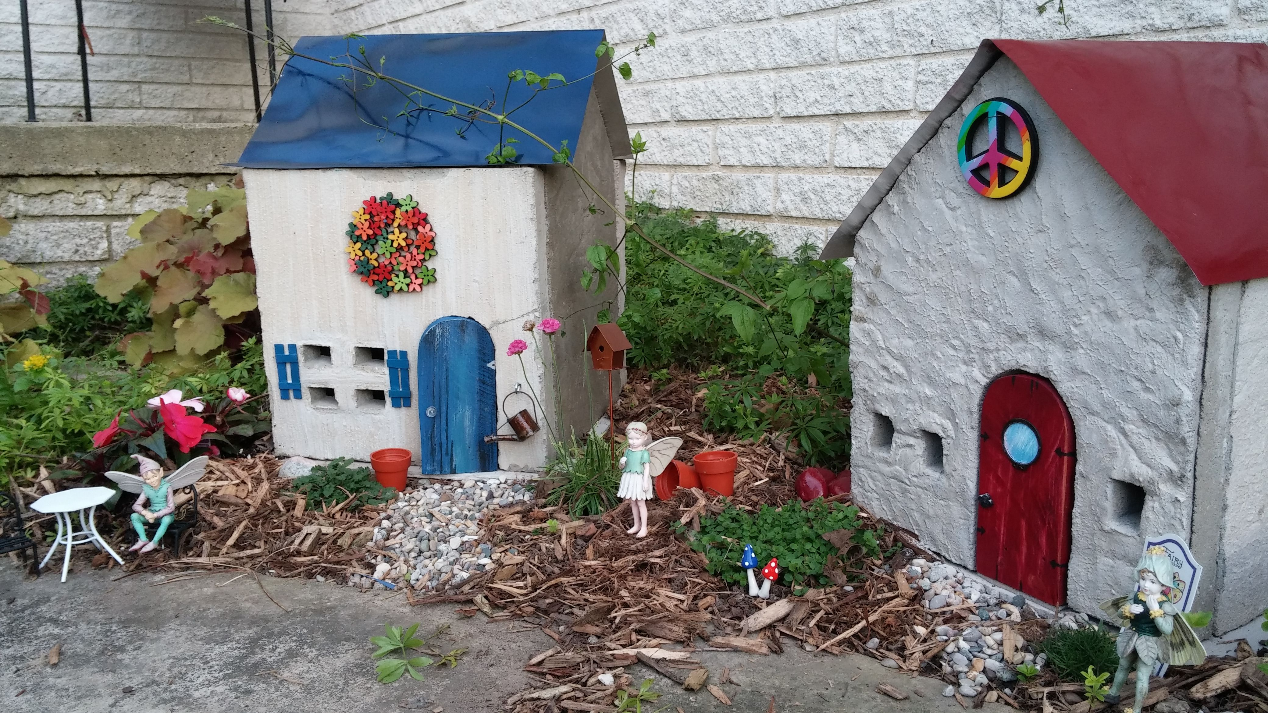 Fairy Houses  Poured concrete in flat wood forms  Sheet