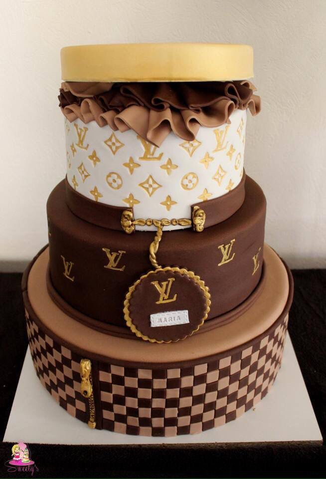 Louis Vuitton Fondant Cake Piece Montee Louis Vuitton Pate A
