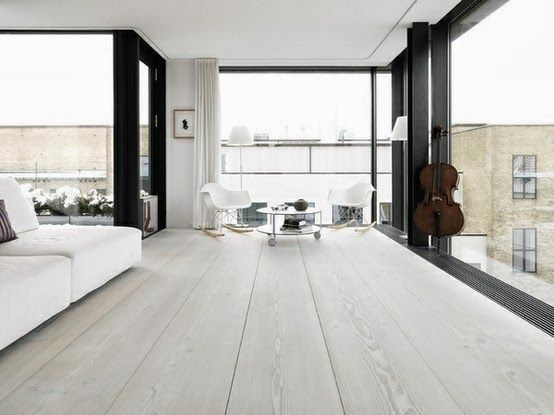 ELEMENTS AT HOME: How to Paint your Floorboards White. Part 1