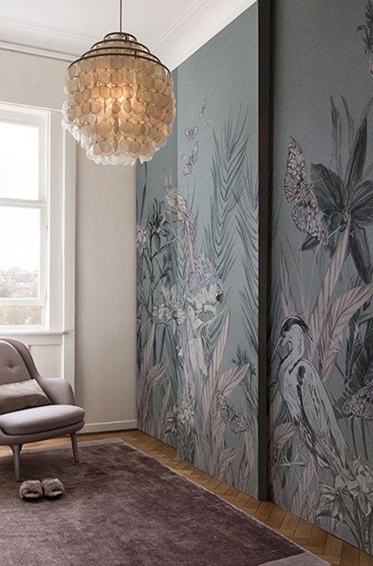 Per decorare le pareti di questo bagno sui toni del verde). Incanto Idea Di Decorazione Armadi Con Carta Da Parati Idee Di Interior Design