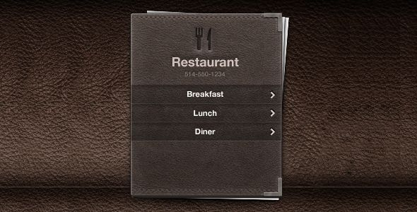 leather restaurant menu