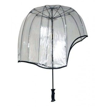 46afdc96b0e5c Helmet Shaped Ice Clear Umbrella. This is the all clear Rainshader ...