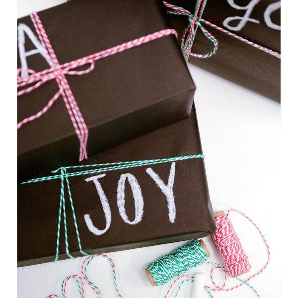 DIY chalkboard wrapping paper