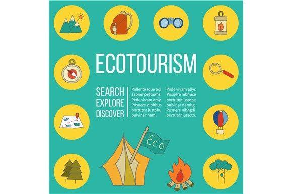Ecotourism Flyer Poster Vector Ecotourism Flyer