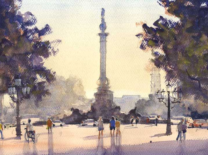 Watercolour Painting Holidays In Barcelona Spain La
