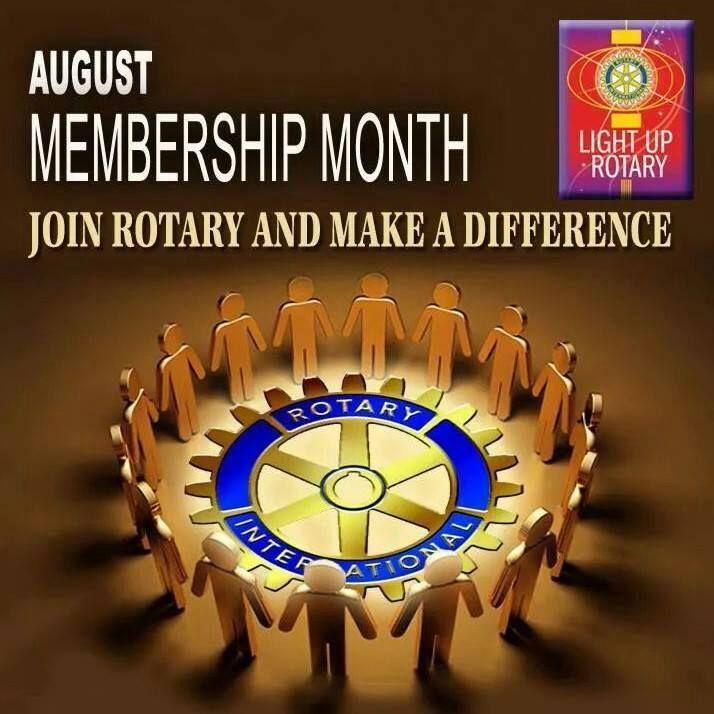 August Membership Month Theme Rotary International Rotary Club Rotarian