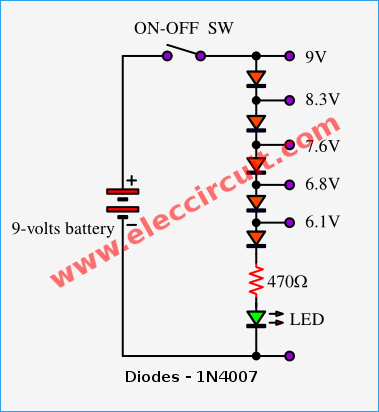 battery voltage monitor circuit by lm339 eleccircuit electronic