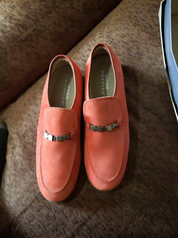 Mens Sz 10 Burnished Orange Suede Vintage Pelle Pelle Hush Puppies Fashion Clothing Shoes A Black Leather Dress Boots Dress Leather Boots Oxford Shoes Men