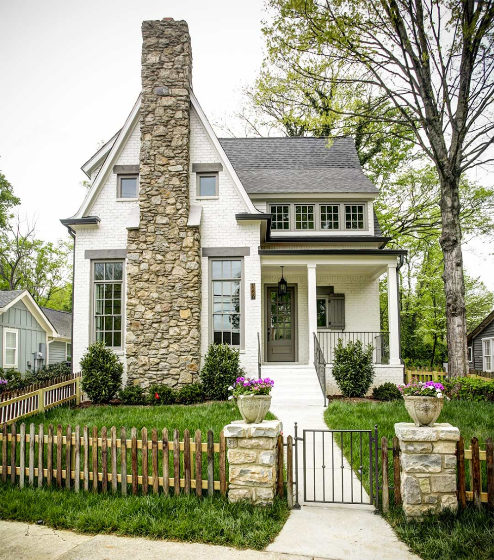 We Are So Excited To Announce We Have Chosen The Exterior Paint Color For Our New House This Was In 2020 Cottage House Exterior White Exterior Paint Cottage Exterior