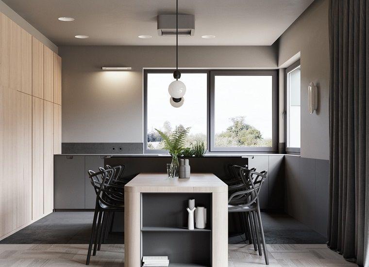 Arredare casa idee originali, sala da pranzo con set di mobili ...
