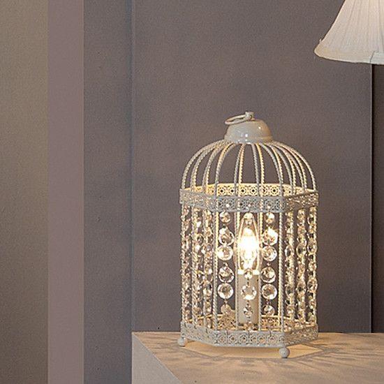 Cream Birdcage Table Lamp Dunelm Lamp Lights Home Lighting
