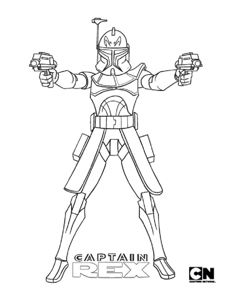 star wars coloring pages captain rex Check more at http ...
