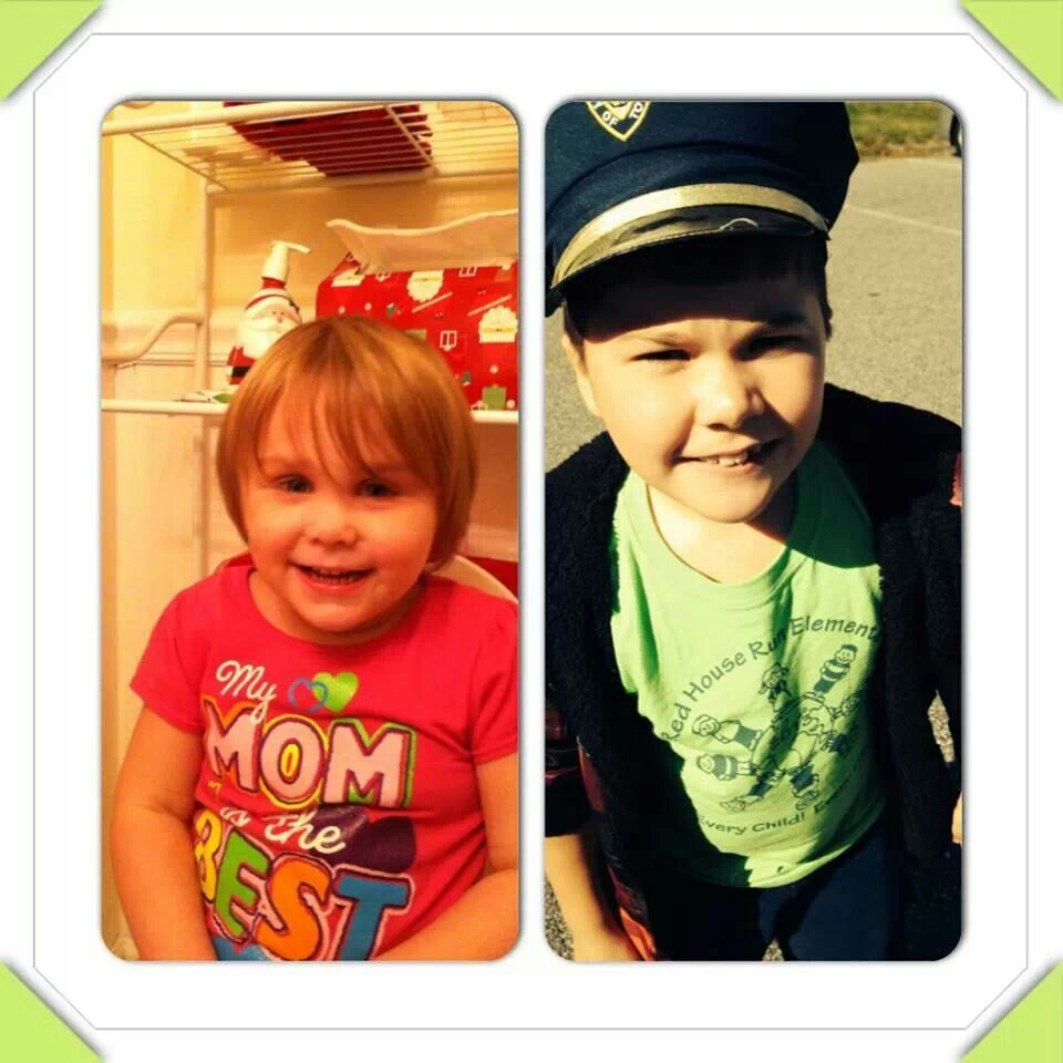 My Grand babies Cheyro and William