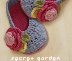 Secret Garden Women's House Ballerina Crochet Pattern - Women's sizes 5 - 10 - Chart & Written Pattern