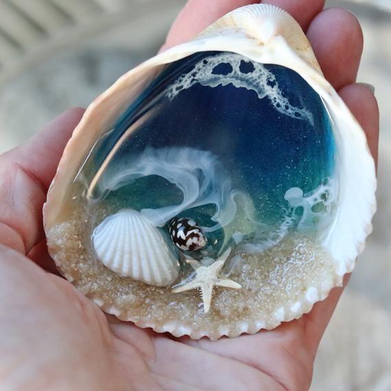Mini Light Blue Resin Ocean Dish