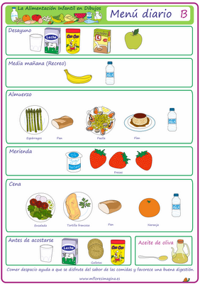 comida saludable para niños dibujos