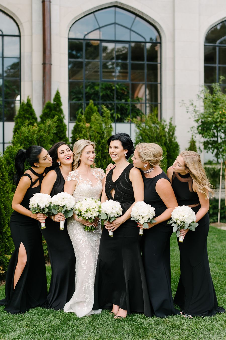Youll swear this wedding is from a fairytale wedding and weddings bridesmaids rocking their black dresses photography mango studios httpsmangostudios ombrellifo Choice Image