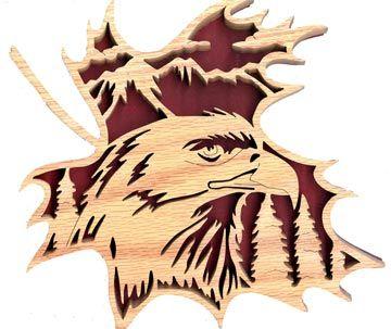 ...   FL102 - Forest Leaf Eagle Pattern   Scrolling   Pinterest   Eagle
