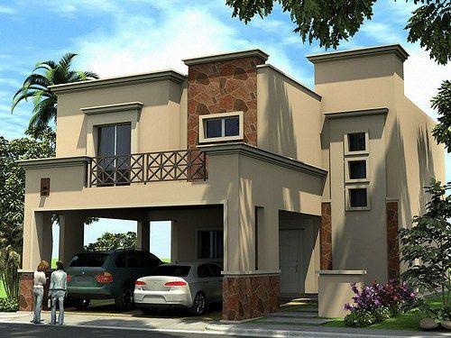 Fachadas de cocheras frentes de casas con garajes for Mini casas modernas