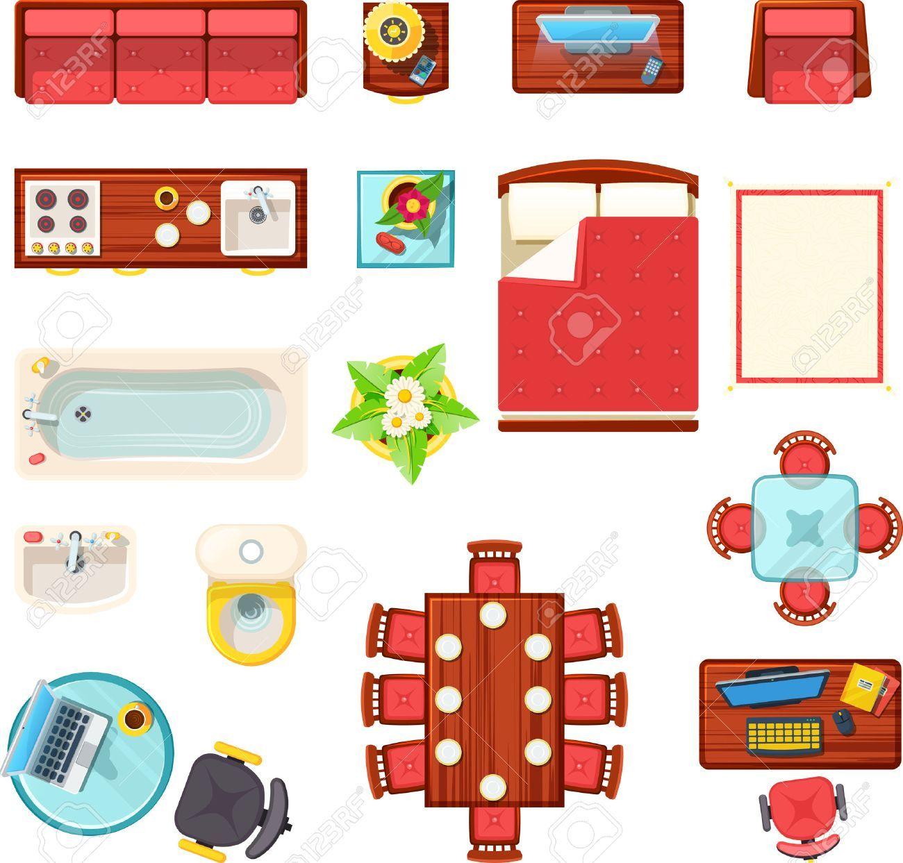 Stock Vector | Modern furniture sets, Buy home furniture ...