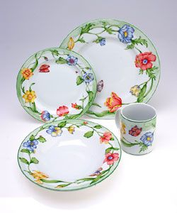 Casual Dinnerware For Less  sc 1 st  Pinterest & Coventry Secret Garden 16-piece Dinnerware Set | Beautiful China ...