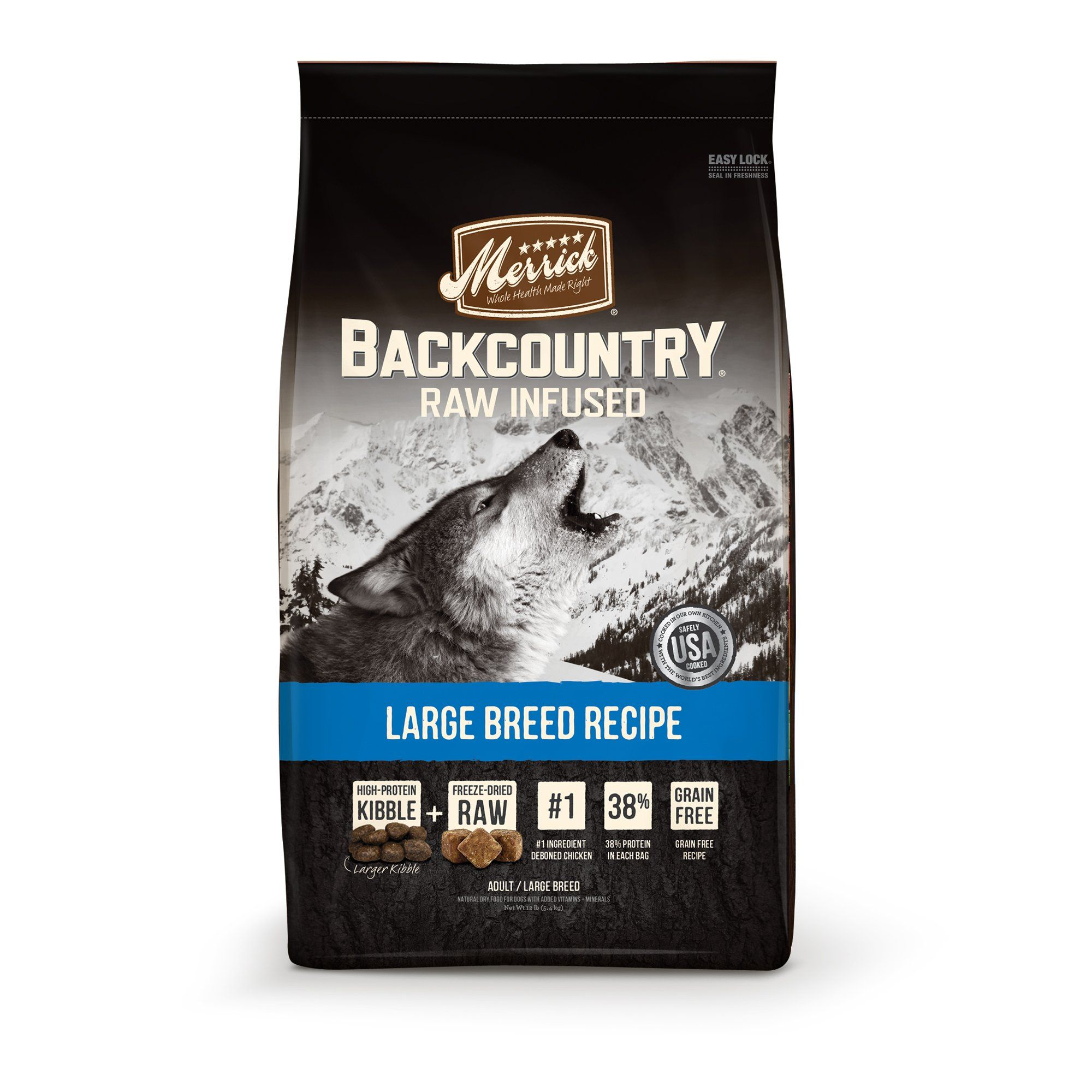 Merrick Backcountry Grain Free Large Breed Dry Dog Food 22 Lbs