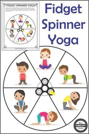 fidget spinner yoga  free printable  yoga for kids