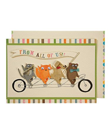 Take a look at this Tandem Pet Greeting Card by Meri Meri on #zulily today!
