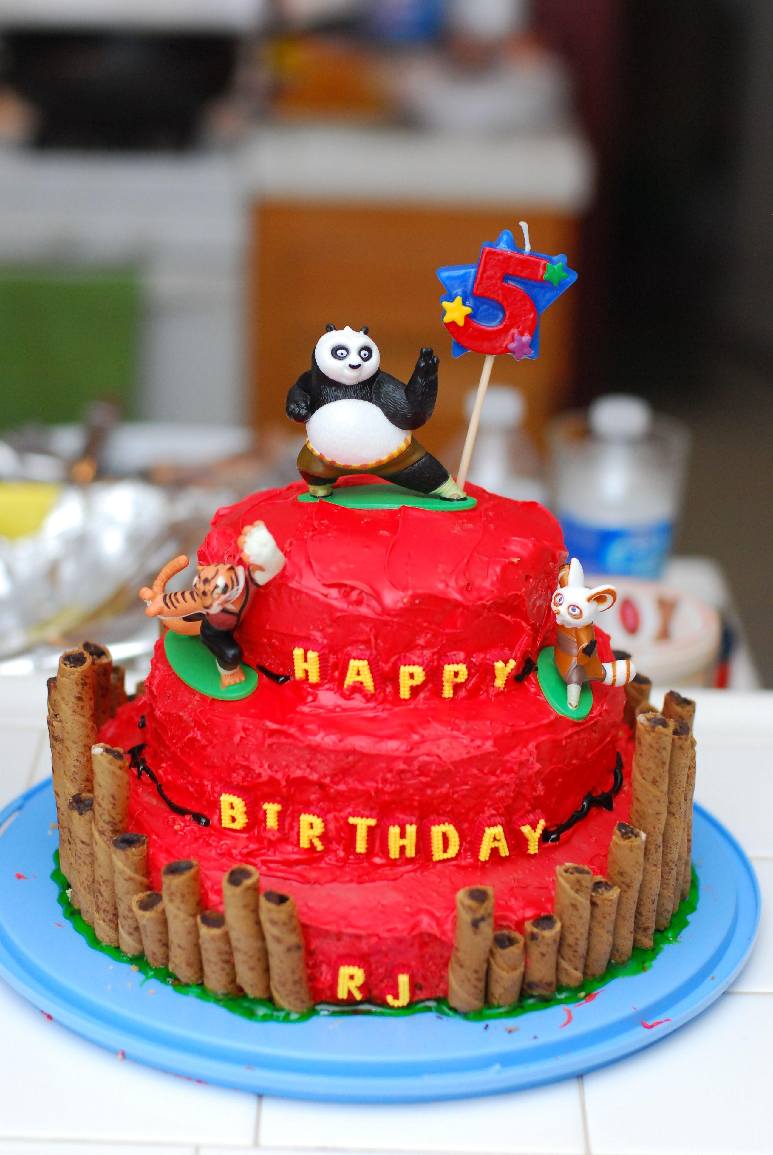 Kung Fu Panda Birthday Cake With A Few Of My Personal Tweaks I