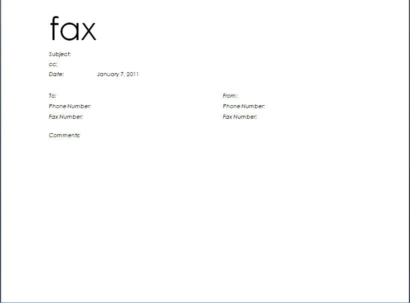 Doc717456 Ms Word Fax Cover Sheet Template Fax Cover Sheet – Fax Cover Sheets Templates