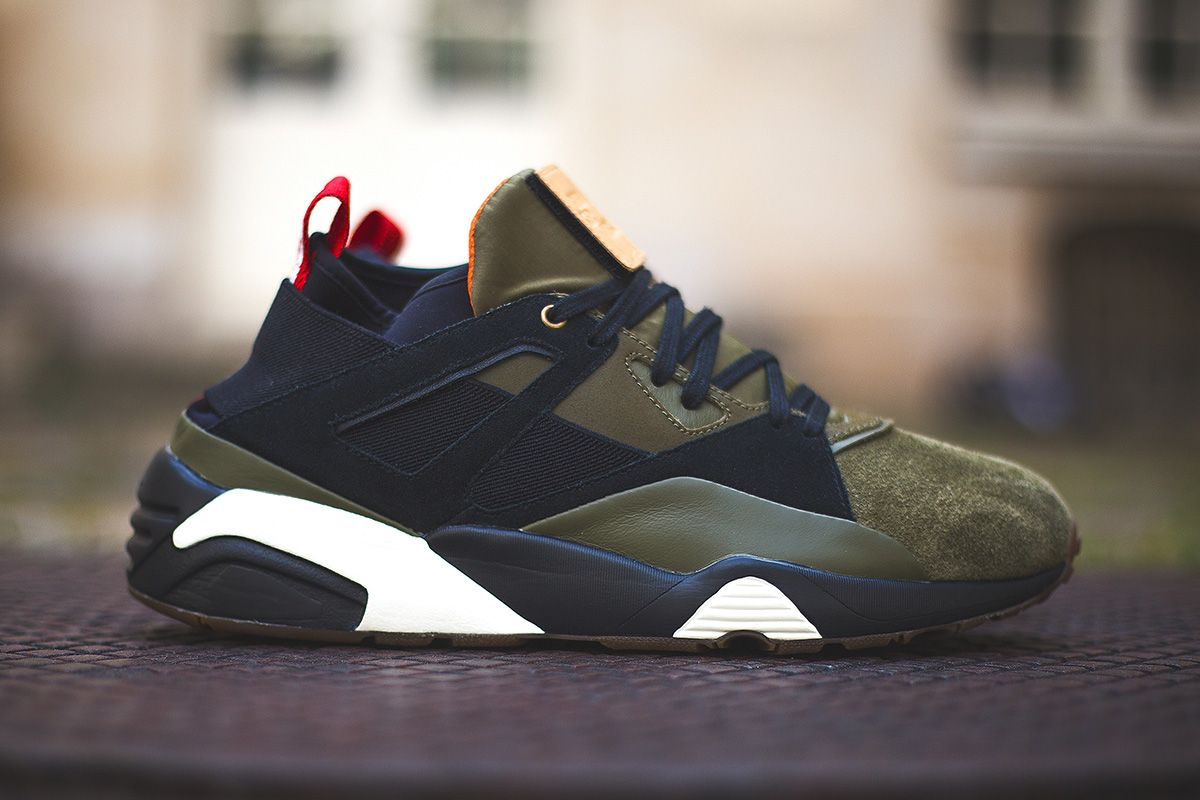 Sneakerness x Puma Blaze of Glory Sock Paris Patriot Pack inspired by the  Paris Flag in Tricolor and French Military.