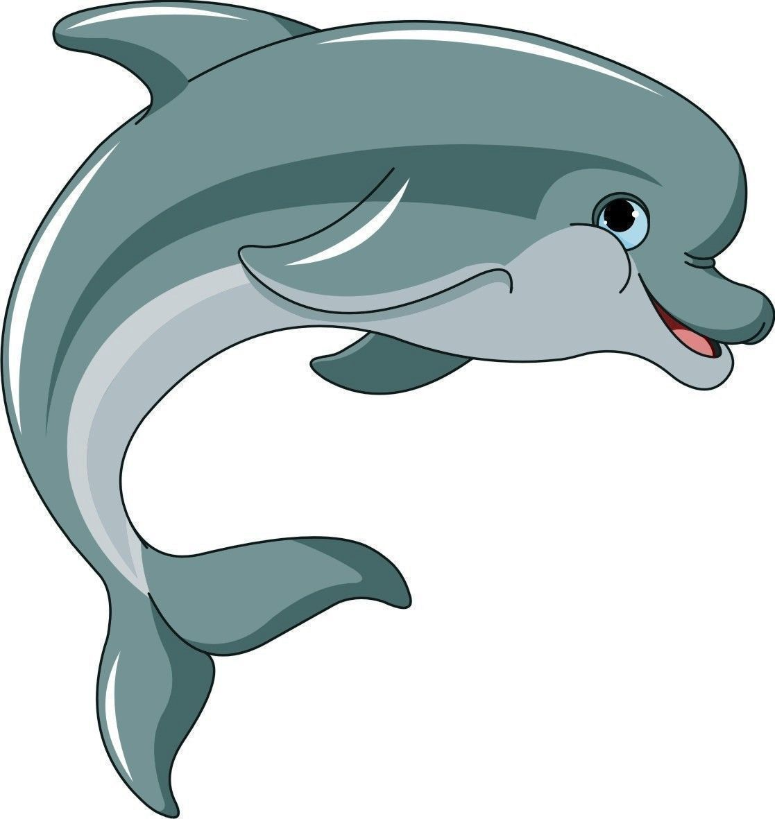 Dolphin Cartoon Flipper Sticker Decal Graphic Vinyl Label V1