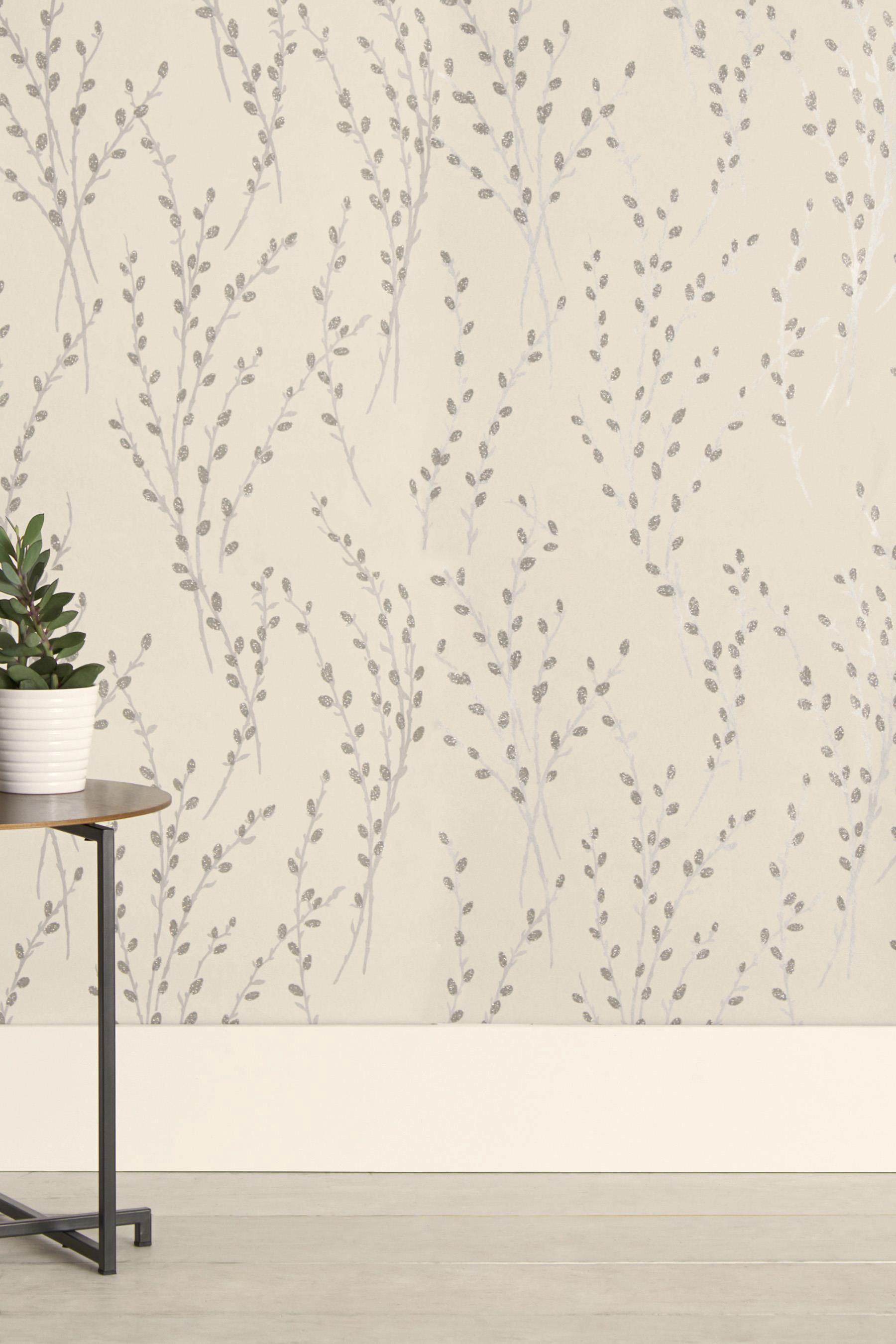 Buy Paste The Wall Glitter Willow Wallpaper from the Next UK online