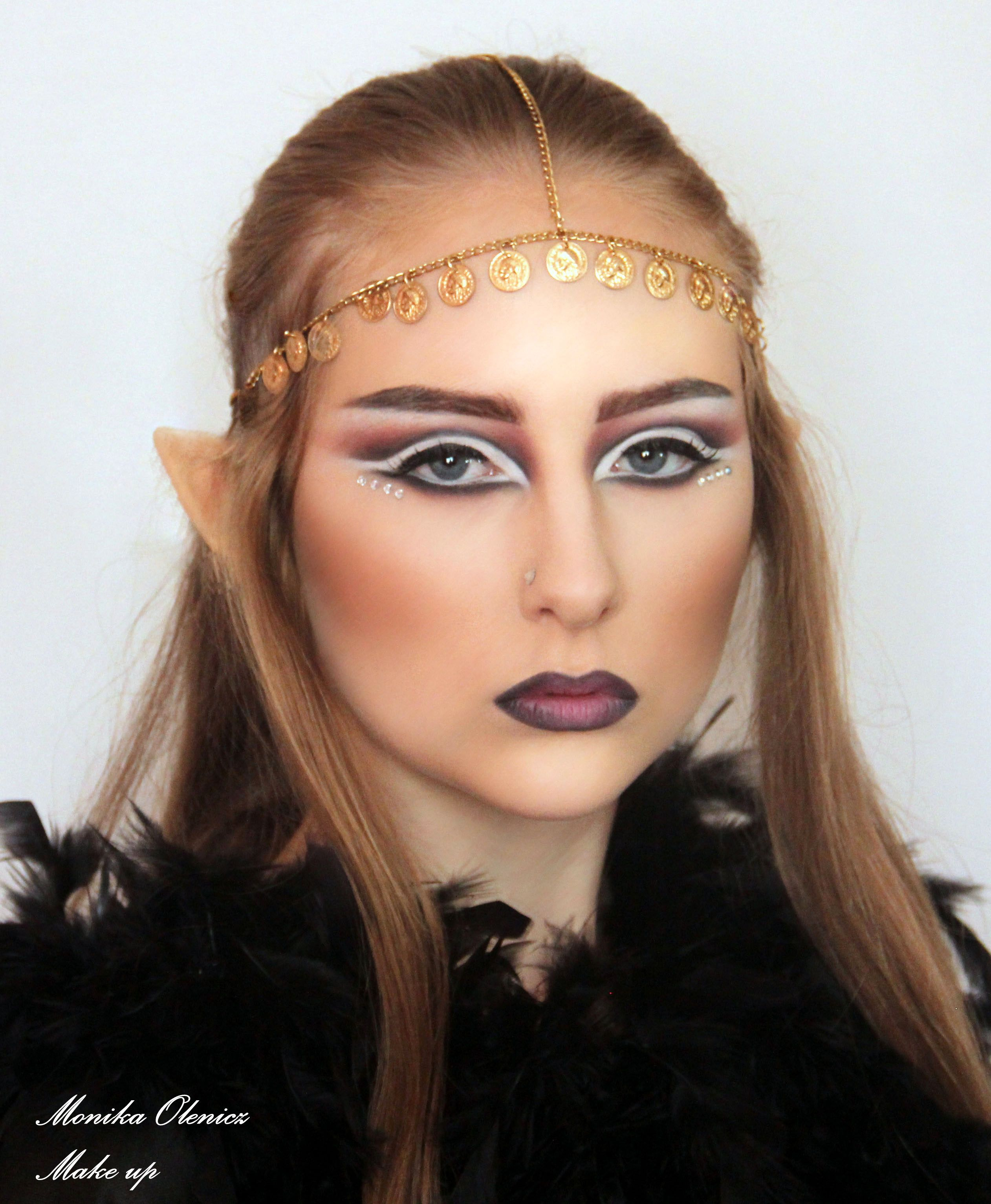 Dark Elf Makeup for Halloween Face and Body painting