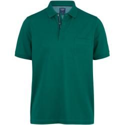 Photo of Olymp casual polo shirt, modern fit, gray-green, Xl Olymp