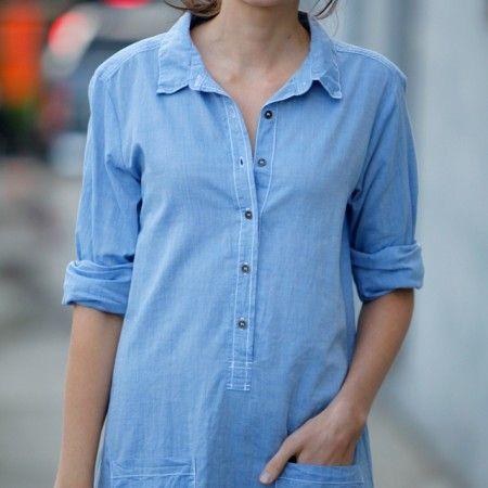 Velvet Hestia Chambray Shirt Dress