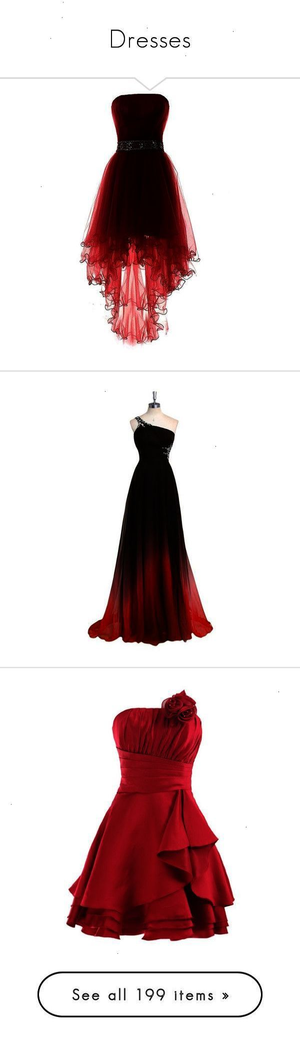 Dresses by bluwolf liked on polyvore featuring dresses gowns