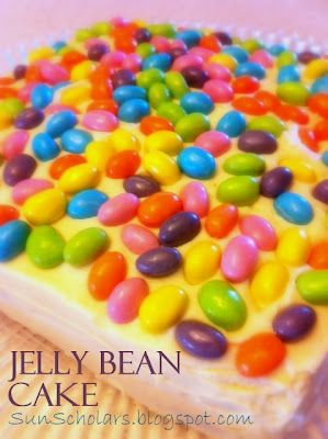 easy and cute jelly bean cake