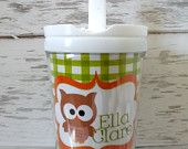 Personalized Christmas cups.