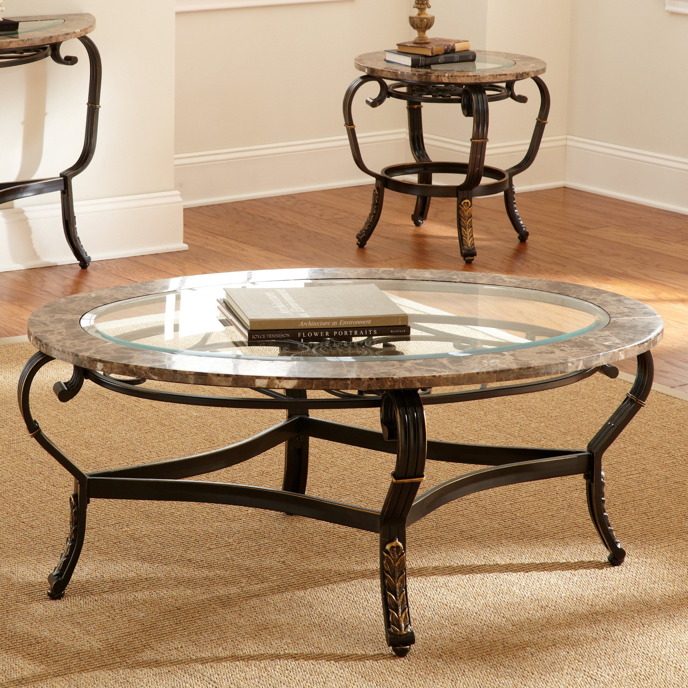 Steve Silver Gallinari Oval Marble And Glass Top Coffee Table Www Hayneedle Com Coffee Table Round Metal Coffee Table Glass Table Living Room [ 2400 x 2400 Pixel ]