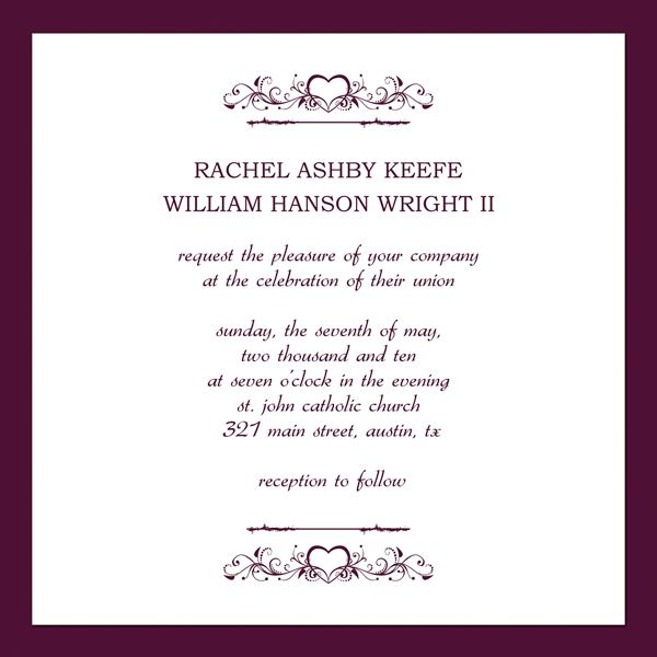 Free Printable Wedding Invitation Templates invitation - invitation format for an event