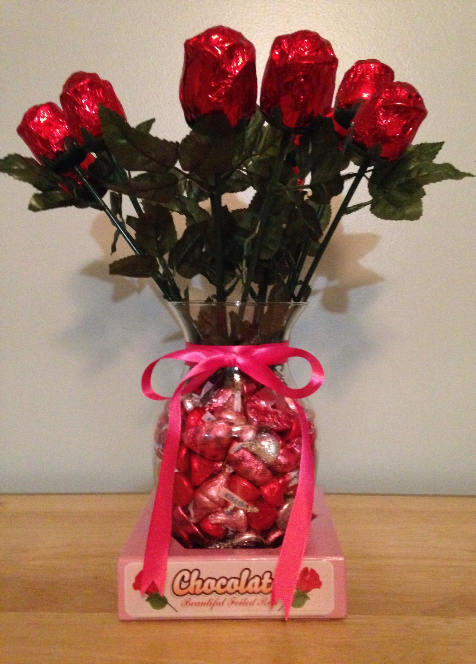 Diy valentines day candy flower bouquet buy a dozen chocolate diy valentines day candy flower bouquet buy a dozen chocolate roses and some hersheys kisses izmirmasajfo Choice Image
