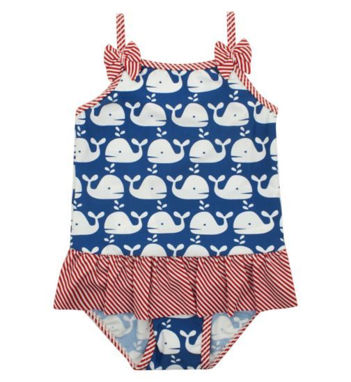 £9 Girls Whale Swimming Costume - Kids Clothes - Boots