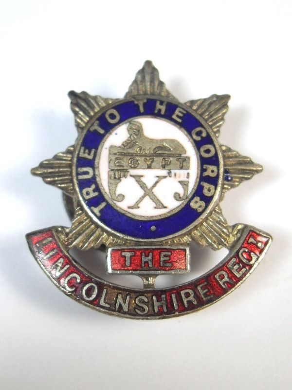 Original Enamel Badge. The Lincolnshire Regiment. X Foot in Collectables, Militaria, World War I (1914-1918) | eBay