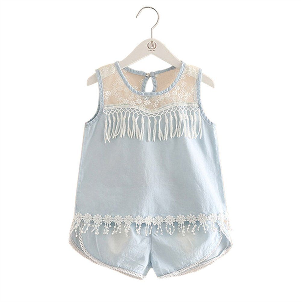Mud Kingdom Little Girl Outfits Floral Chiffon Top and Short Set
