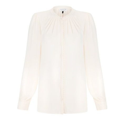 Buy COLLECTION by John Lewis Mariella Braided Blouse, Vanilla Online at johnlewis.com